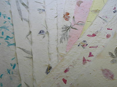 10  A4 sheets thick FLOWER & PETAL mulberry papers RANDOM MIXED PACK crafty cow