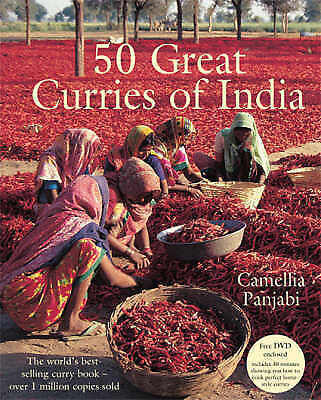 50 Great Curries of India + DVD, Camellia Panjabi, New