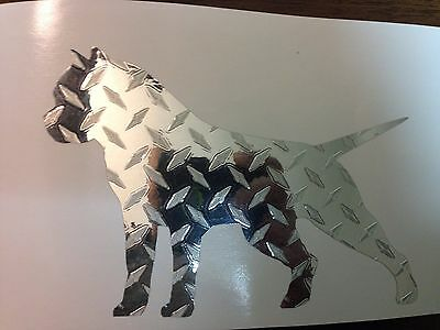 Pitbull sticker decal Diamond Plate Amstaff American Bully *B175*