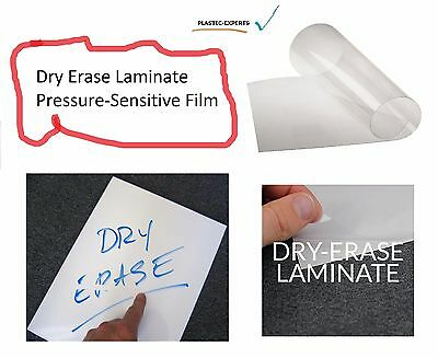 """Dry Erase Laminate Clear Gloss Self-Adhesive Cold Polypro Roll 38"""" x 150' Film"""
