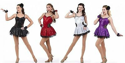 Fashionista Dance Costume Sequin Christmas Colors Jazz Tap Ballet Child & Adult