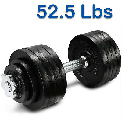 Yes4All 52.5 lb Adjustable Dumbbell Weight Set - Cast Iron Dumbbells
