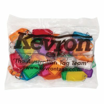 KEVRON KID5 Bag Of 50 MIXED Plastic Click Keyring Tags-FREE POSTAGE ID5