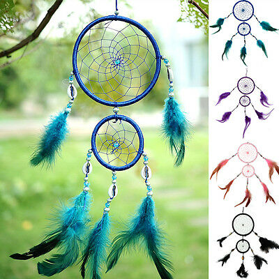 Multicolor Dream Catcher Feathers Room Decoration Ornament Wall Hanging Present