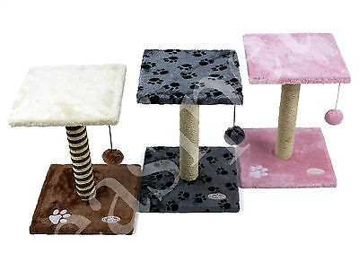 Cat Tree Kitten Scratch Post Scratcher Scratching Toy Sisal Activity Centre