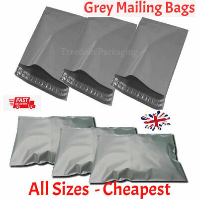 Strong Grey Postage Mail Mailing Postal Plastic Post Poly  Bags With Self Seal