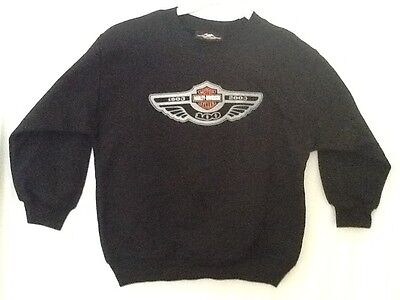 HARLEY DAVIDSON  KIDS SWEATER SIZE Small 17x19 100th Year Anniversary NEW