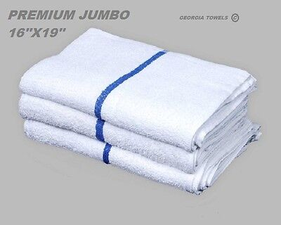 60 BLUE STRIPE PREMIUM GRADE STRIPE BAR MOP MOPS RESTAURANT CLEANING TOWEL 34oz