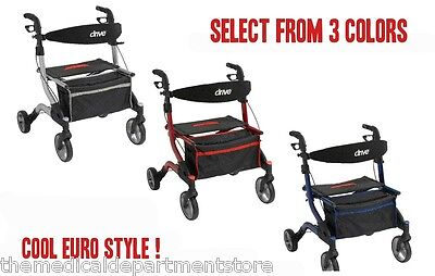 iWalker Euro Style Rollator Walker Wheels and Seat RTL10555 Drive Medical
