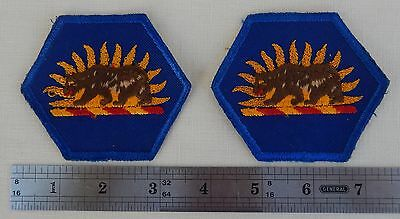 Pair (2) U.S. Army Patch's - California Army National Guard  * Bear