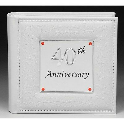 40Th Ruby Wedding Anniversary Deluxe Photo Album 4 X 6 Photographs Gift