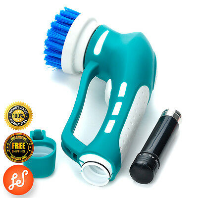 Power Scrubber Multipurpose Cleaning Kit Kitchen Bathroom Cordless Rotary Brush