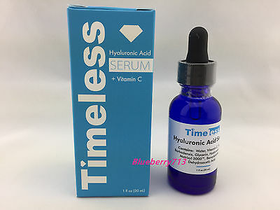 New in Box! Timeless Hyaluronic Acid Serum + Vit C  1  oz/ 30ml