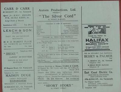 Great Yarmouth. Little Theatre. 'The Silver Cord' Sally Lahee   s.250