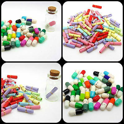 Dainty Message Paper Scrolls for MINI Wish Bottle Charms Jewellery Craft ML