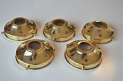 Set Of 5 Antique Style Brass Glass Light Shade Gallery 3 1/4 Inch Lamp Shade Nr3