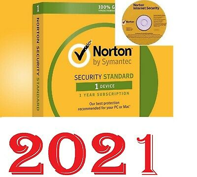 GENUINE NORTON SECURITY+ANTIVIRUS 2019 + CD, PC/Mac/iOS/Android,1 user,1Year