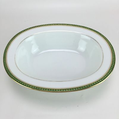 La Seynie Limoges P And P France Porcelain Footed Vegetable Bowl Irish Clover