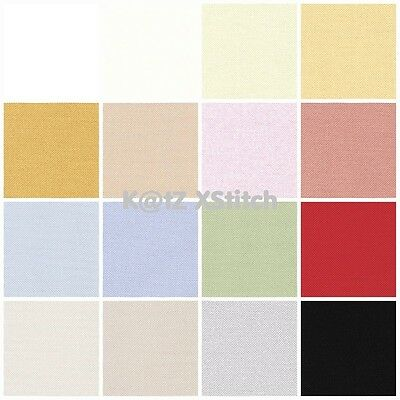28 COUNT JOBELAN EVENWEAVE CROSS STITCH FABRIC Various Colours / Sizes