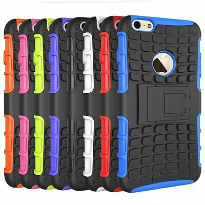 Hybrid Shockproof Case Cover Stand for Apple iPhone 6/6s Hard Soft 6 Plus/6s+