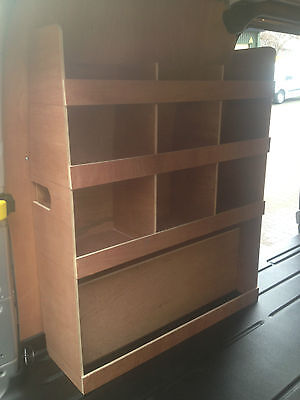 Ford Transit Custom SWB  Passenger Side Plywood Racking, Shelving, Storage,