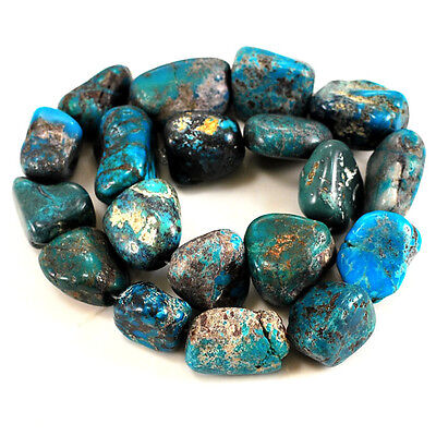 """*18-25mm Natural Blue Hubei Turquoise Nugget Beads 15"""" (TU656)g"""