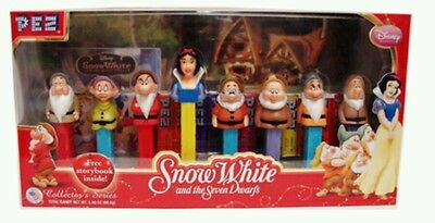 Snow white and the 7 dwarf   PEZ dispenser set collector item