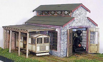 On3/On30 WISEMAN BACKWOODS ENGINE HOUSE, SHOP OR CRITTER SHED STRUCTURE KIT