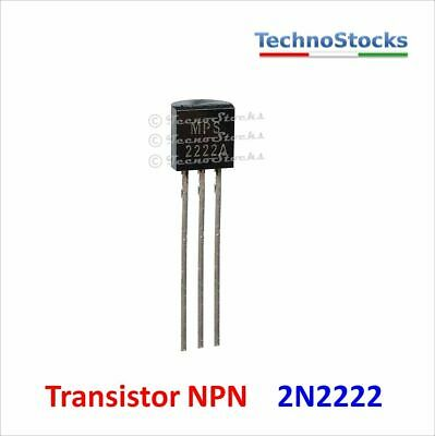 20x 2N2222A NPN BJT 75V 0.8A TO-92 Small Signal MPS2222A