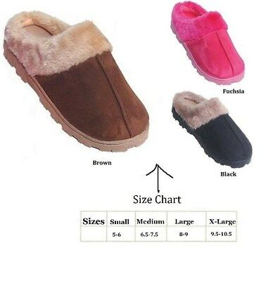 Womens Outdoor Indoor Scuff House Slippers Assorted Colors  S M L Xl