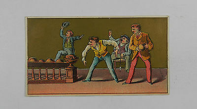 Group of Guys Bowling Vintage Trade Card 217020