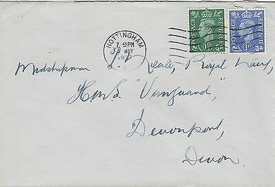 (47612) CLEARANCE GB 1.5d 1d Definitive George VI - Nottingham 3 May 1951