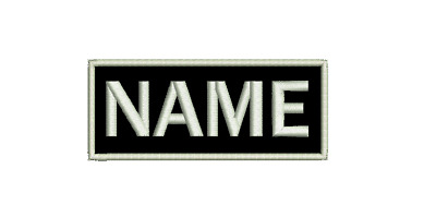 Embroidered Custom Made Personalised Name Tag Patch 10x4 Felt NEW Made to Order