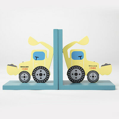 Gorgeous Wooden Yellow Digger Bookends - Sass & Belle