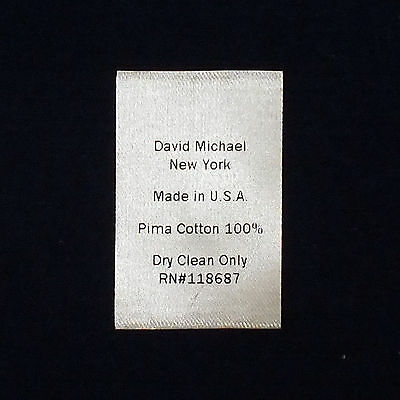 1000 PCS CUSTOM CARE LABELS, Your Own Care Instruction on Beige or BLK Satin