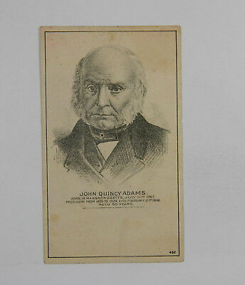 Picture of John Quincy Adams Vintage Trade Card 216937