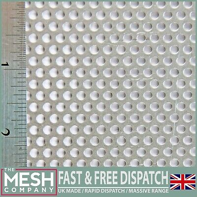 3mm Hole x 5mm Pitch x 1mm Thick Aluminium Perforated Mesh Sheet Plate