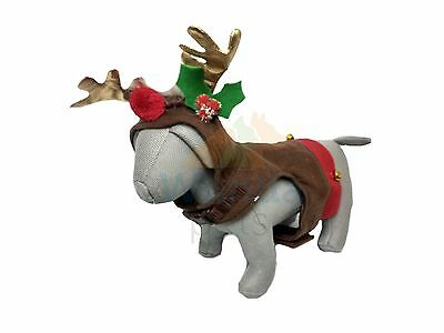 ROSEWOOD SMALL Toy Dog Puppy Reindeer Walking Harness Costume With
