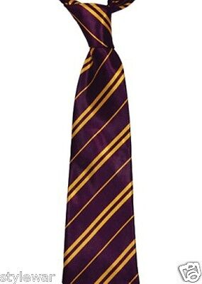 New Kids Boys Girls Purple Yellow Griffindor Tie Hogwarts World Book Week Tie