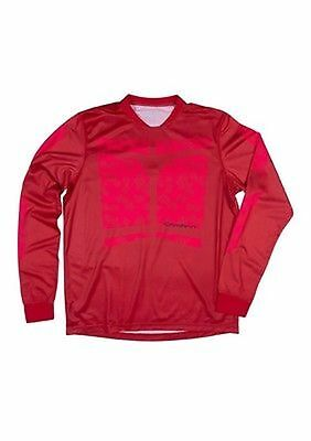 Sombrio Duster Long Sleeve Mountain Bike Cycling Jersey Red Men s Large New 4d5d6b701