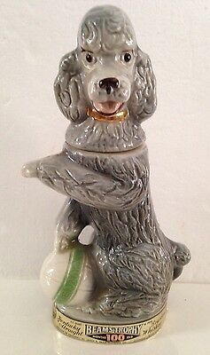 Vintage 1970 Collectable Jim Beam Penny Poodle Decanter