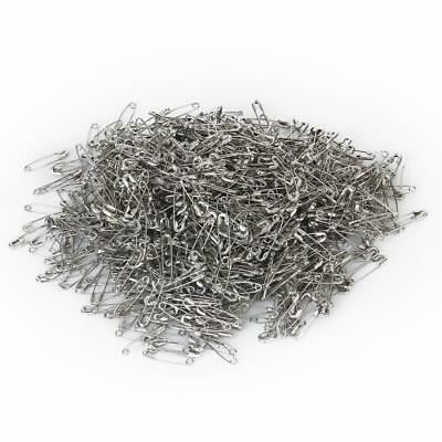 1000 Silver metal Safety Pins Findings 20mm Patchwork Quilting Badge DIY Sewing