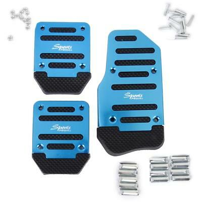 Universal Blue Racing Sport Non Slip For Manual Car Auto Pedals Pad Blue
