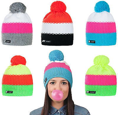 Mens Womens Cable Knitted Bobble Hat Beanie Very Warm Winter Pom Wooly Cap Flo