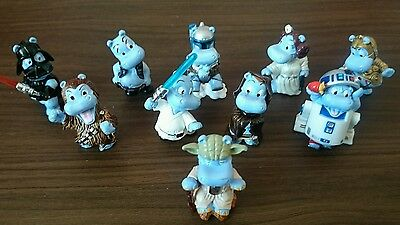 STAR WARS VERY RARE COMPLETE SET OF HAPPY HIPPOS BY KINDER
