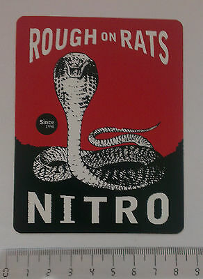 *** Nitro Snowboards  -  Snowboard Sticker - Rough on Rats ***