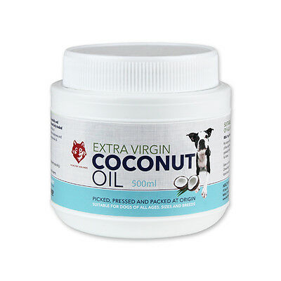 Healthy Hounds Extra Virgin Coconut oil for Pets Dog 500ml Dog Health Supplement