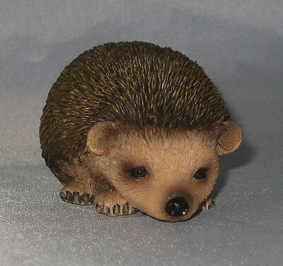 """Hedgehog Figurine Baby Hedgie Poly Stone Sculpture New in Box 2 7/8"""" Long"""