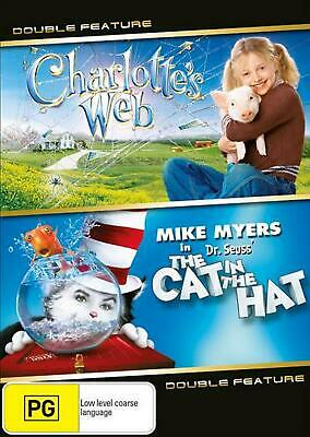 Charlotte's Web (2006) / The Cat in The Hat (Dr Suess) - DVD Region 4 Free Shipp