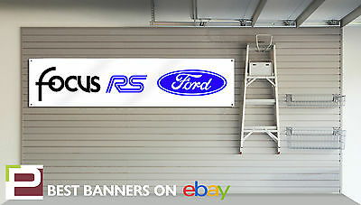 PVC Banner with Eyelets Ford Focus ST Workshop Banner Mk3 Focus ST Yellow